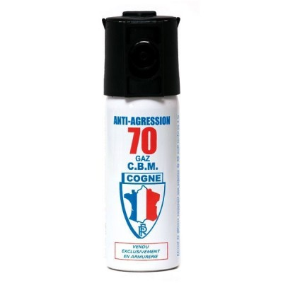 AÉROSOL DE DÉFENSE PUISSANCE 70 50 ML GAZ CS