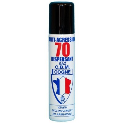 AEROSOL ANTI-AGRESSION DISPERSANT PUISSANCE 70 - GAZ CS - 75 ML