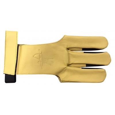 Gant en cuir avec renfort doigt en cuir et bande auto-grippante pour le maintien au niveau du poignet