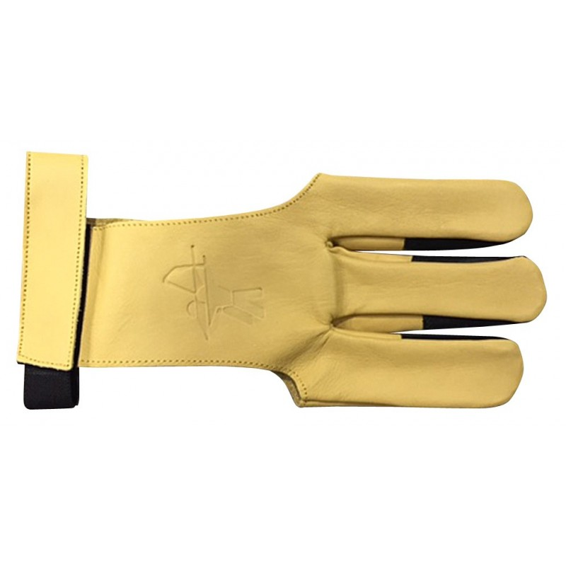 Gant en cuir XXS avec renfort doigt en cuir et bande auto-grippante pour le maintien au niveau du poignée