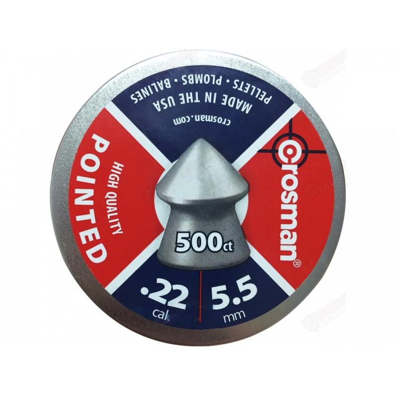 Plombs Crosman plombs pointus 500 / 5.5 mm