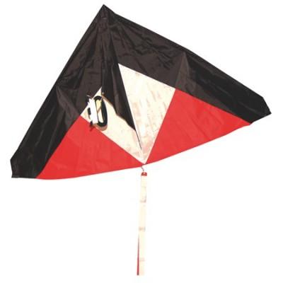 Cerf volant Noir/Rouge