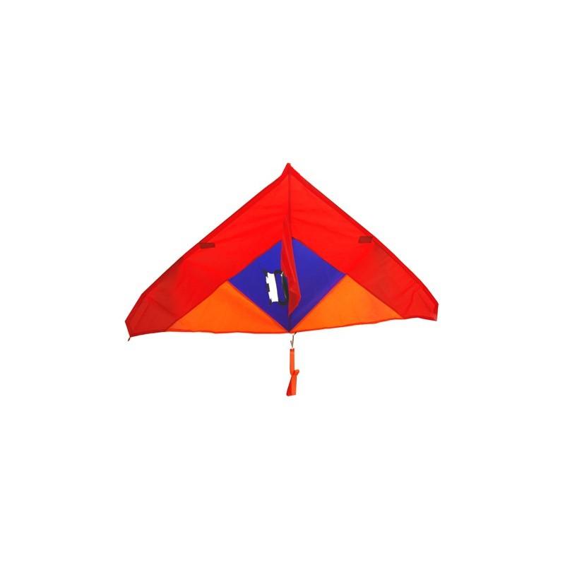 Cerf volant rouge/bleu