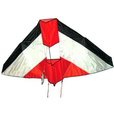 Cerf volant grand delta box rouge/noir