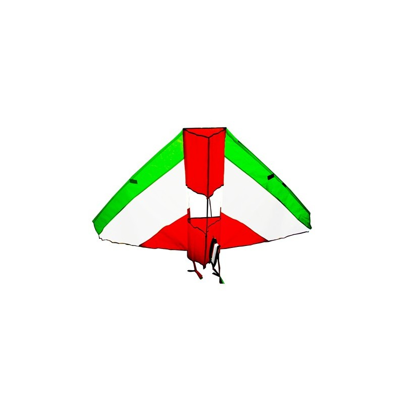 Cerf volant grand delta rouge/blanc/vert