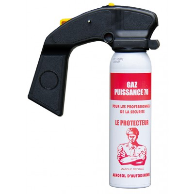 AEROSOL ANTI-AGRESSION FORCE LE PROTECTEUR GAZ CS 100 ML POIGNEE