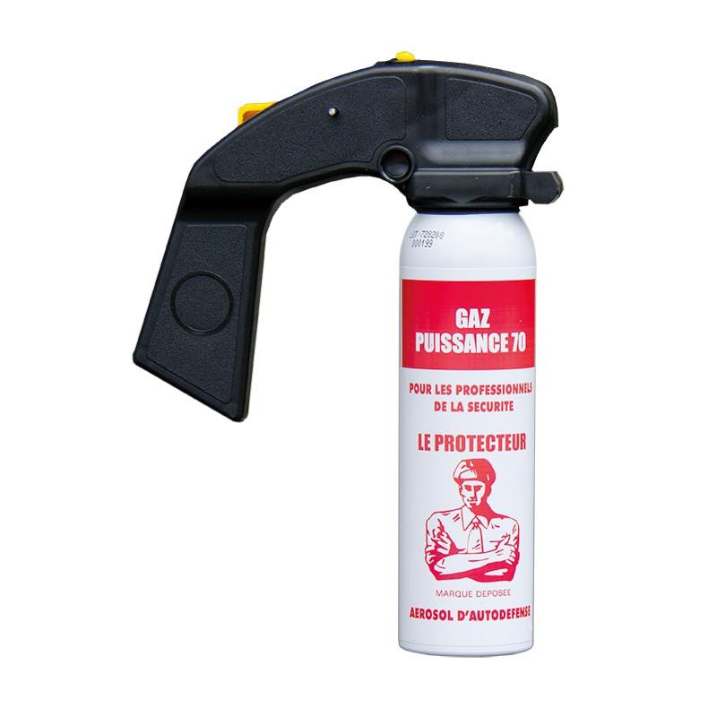 AEROSOL ANTI-AGRESSION FORCE LE PROTECTEUR GAZ CS 100 ML POIGNEE