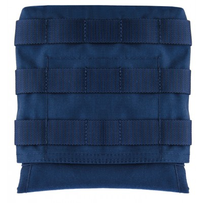 PORTE PLAQUE ADDITIONNEL LATERAL BLEU MARINE SYSTEME MOLLE