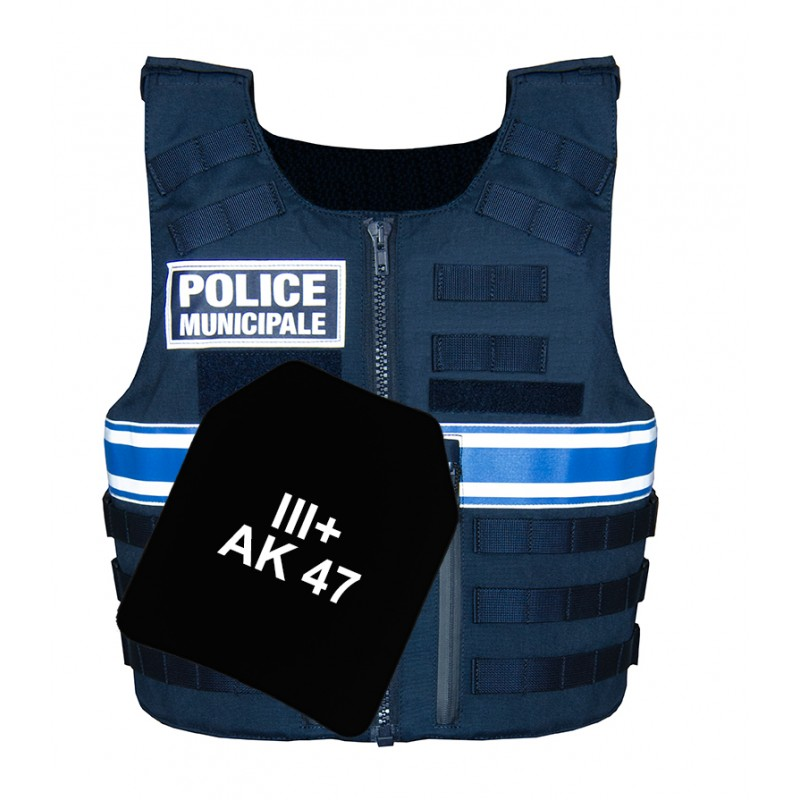 Gilet pare balles IIIA Full Tactical Police Municipale Homme