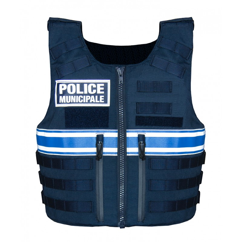 Gilet pare balles tactique backTactical Police Municipale Homme