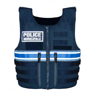 Housse de Gilet pare balles Back Tactical Police Municipale Unisexe