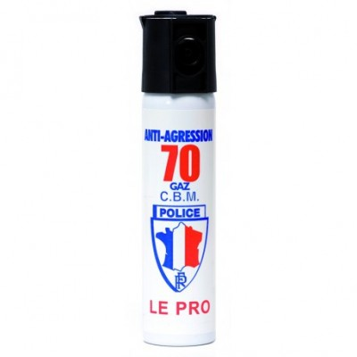 AEROSOL ANTI-AGRESSION PUISSANCE 70 75 ML GAZ CS