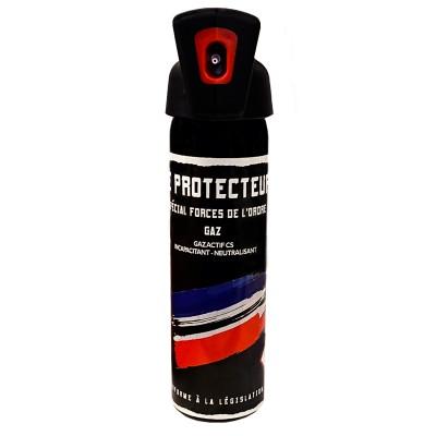 AEROSOL ANTI-AGRESSION FORCE LE PROTECTEUR - GAZ CS - 100ML POIGNEE