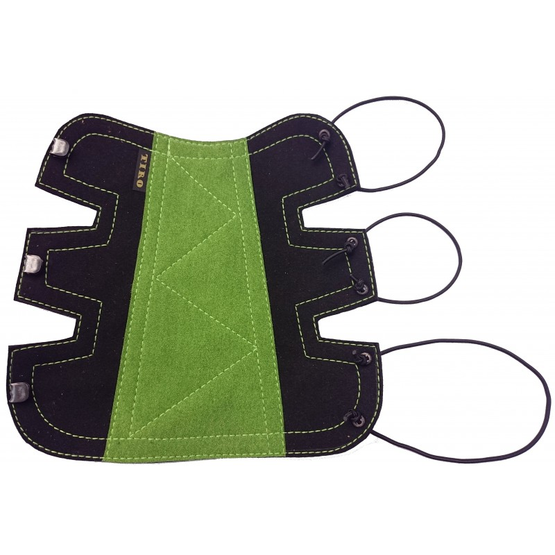 Bracelet Classique Long Noir/Vert