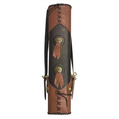 Carquois en cuir gras avec deux attaches renforc̩es type Medieval 56 cm