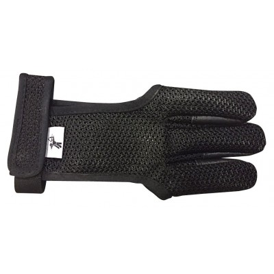 Gant respirant noir avec bande auto-grippante pour le maintien au niveau du poignet