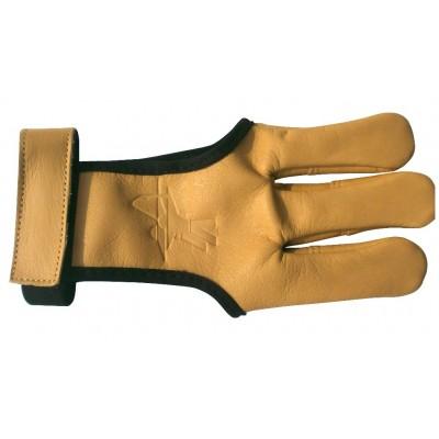 Gant en peau de daim avec bande auto-grippante pour le maintien au niveau du pognet