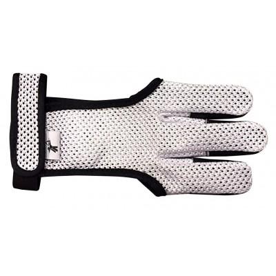 Nouveau gant respirant avec protection doigt en cuir et bande auto-grippante pour le maintien au niveau du poignet