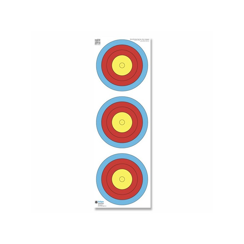 Blason vertical 40 cm Compound/Paquet de 100 blasons/ 22 x 96 cm