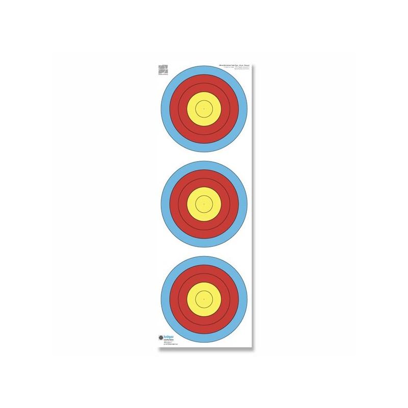 Blason vertical 40 cm Recurve/Paquet de 100 blasons 22 x 96 cm